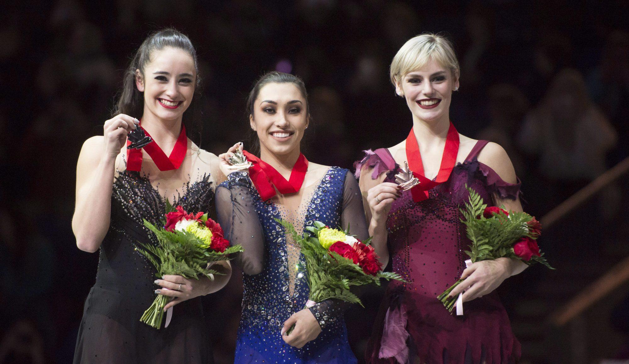 Team Canada Women's Podium 2018 Nationals