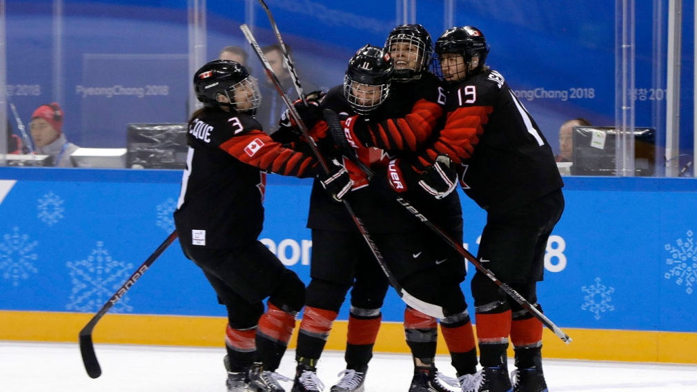 Team Canada women's hockey vs Finland