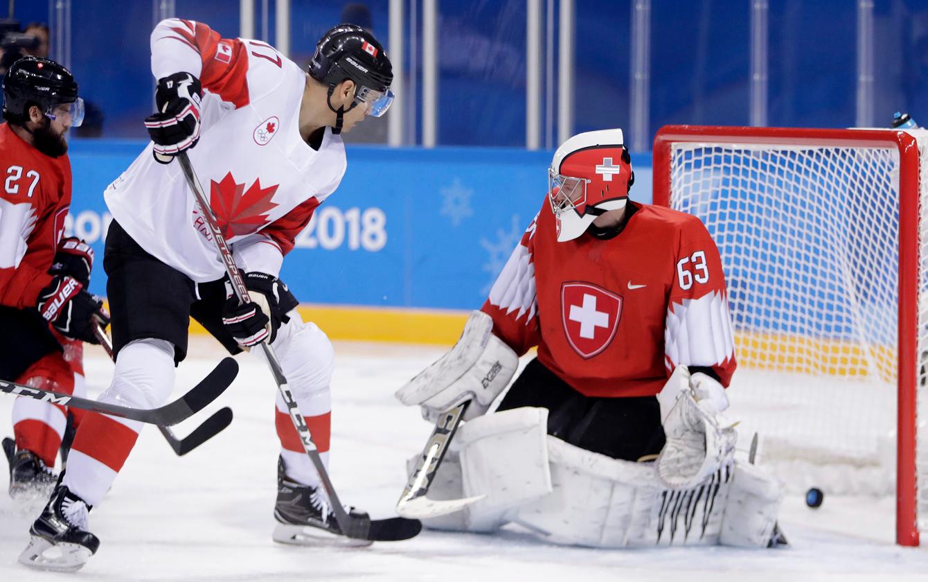 Rene Bourque Team Canada Team Switzerland Men's Hockey PyeongChang 2018