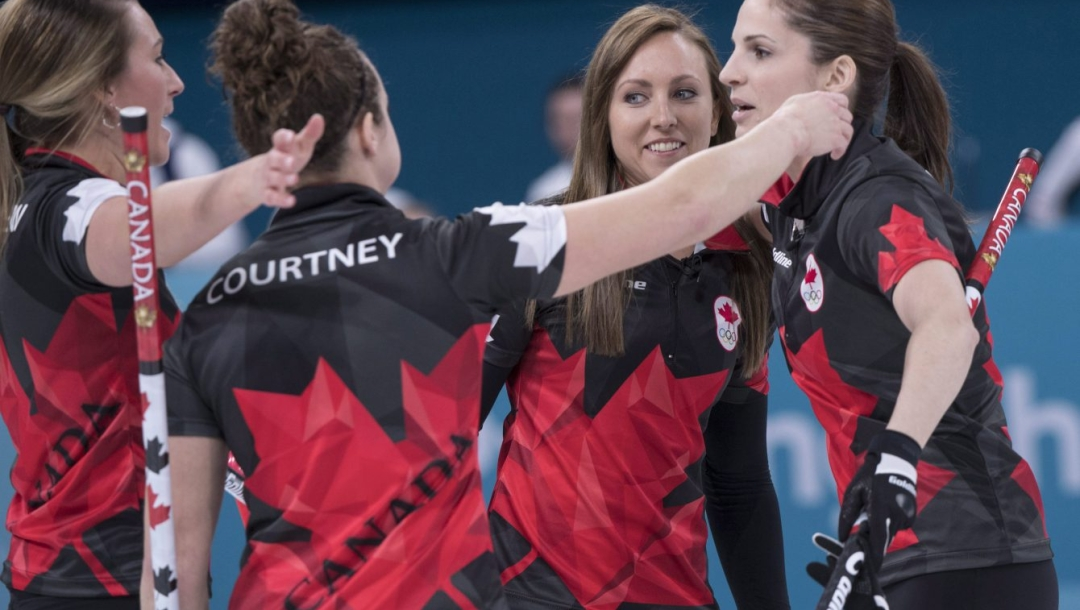 Emma Miskew Joanne Courtney Rachel Homan Lisa Weagle