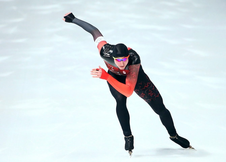 Alex BOISVERT-LACROIX of Canada competes in the Men's 500m Final at the Gangneung Oval during the PyeongChang 2018 Olympic Winter Games in PyeongChang, South Korea on February 19, 2018. Photo by THE CANADIAN PRESS/HO-COC/Vaughn Ridley