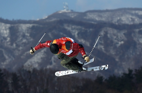Noah Bowman of Canada competes in the Men's Ski Halfpipe Final today at Phoenix Snow Park during the PyeongChang 2018 Olympic Winter Games in PyeongChang, South Korea on February 22, 2018. Photo by THE CANADIAN PRESS/HO-COC/Vaughn Ridley