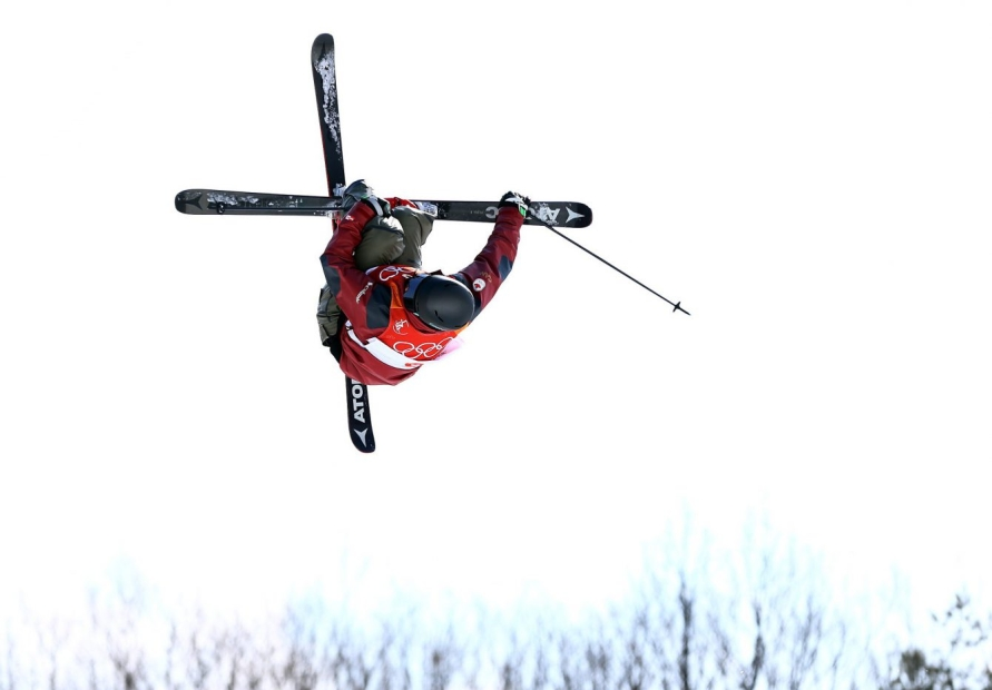 Mike Riddle of Canada competes in the Men's Ski Halfpipe Final today at Phoenix Snow Park during the PyeongChang 2018 Olympic Winter Games in PyeongChang, South Korea on February 22, 2018. Photo by THE CANADIAN PRESS/HO-COC/Vaughn Ridley