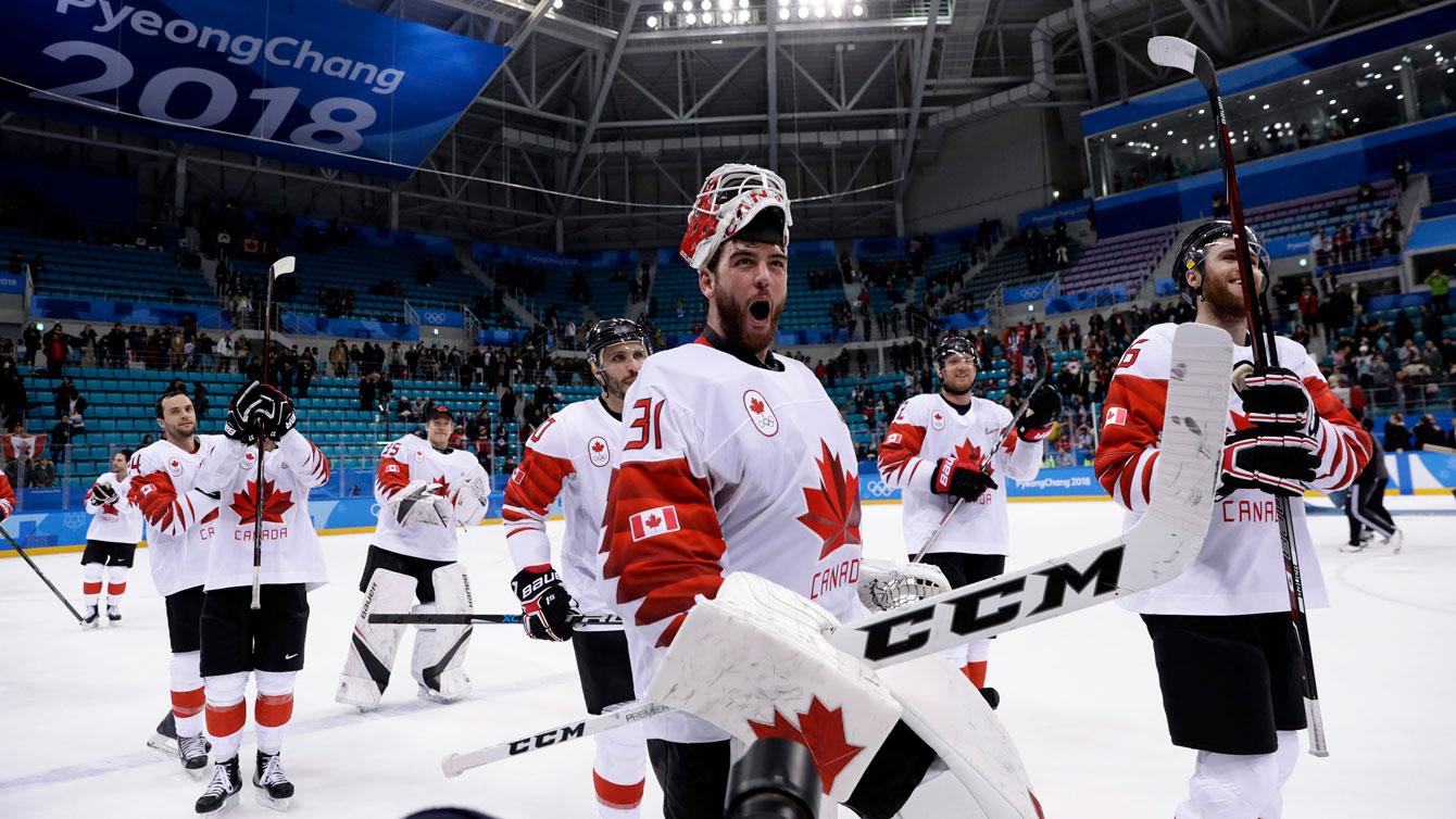 Team Canada Kevin Poulin PyeongChang 2018