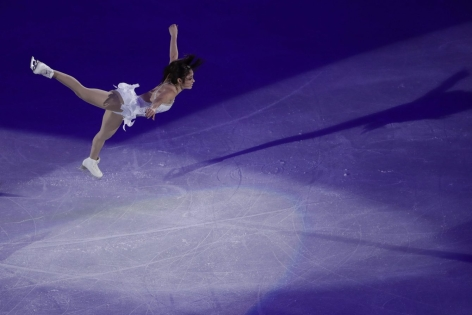 Kaetlyn Osmond of Canada performs during the figure skating exhibition gala in the Gangneung Ice Arena at the 2018 Winter Olympics in Gangneung, South Korea, Sunday, Feb. 25, 2018. (AP Photo/Felipe Dana)
