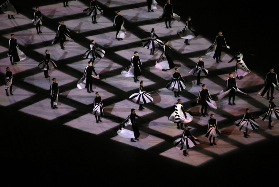 Performers dance during the closing ceremony of the 2018 Winter Olympics in Pyeongchang, South Korea, Sunday, Feb. 25, 2018. (AP Photo/Charlie Riedel)