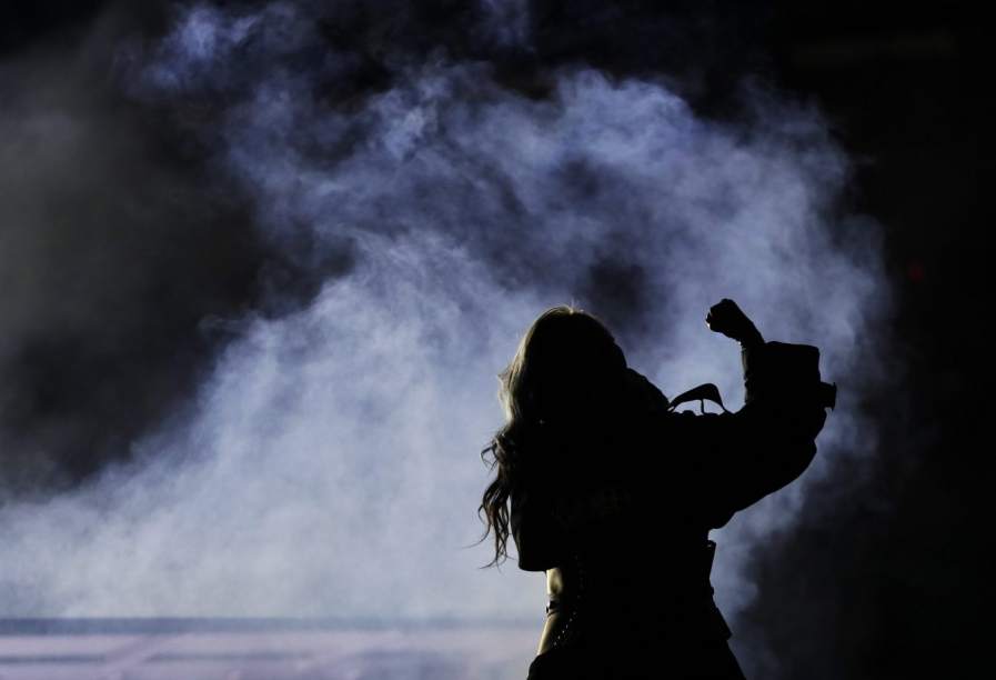 Singer CL performs during the closing ceremony of the 2018 Winter Olympics in Pyeongchang, South Korea, Sunday, Feb. 25, 2018. (AP Photo/Kirsty Wigglesworth)