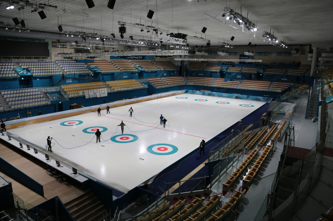 The Gangneung Curling Centre will host men's and women's curling at PyeongChang 2018,