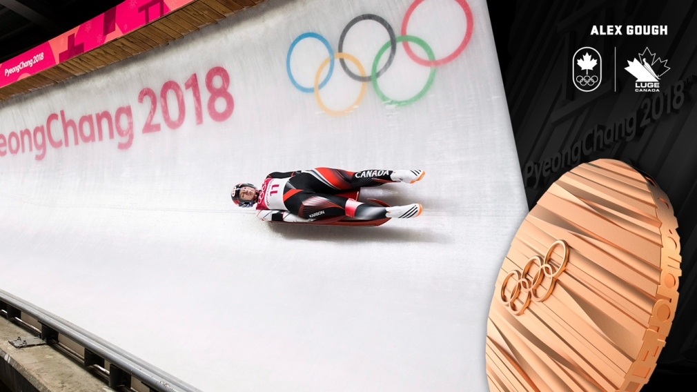 Gough slides to bronze for Canada's first ever Olympic luge medal