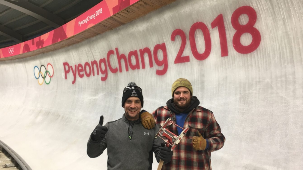 Spotted: Canadian ice makers contribute to the track in PyeongChang