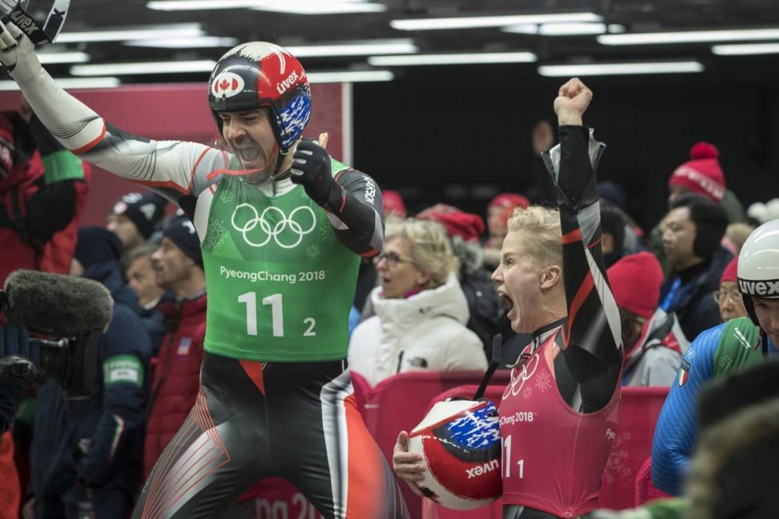 Canada Luge Team Relay PyeongChang 2018