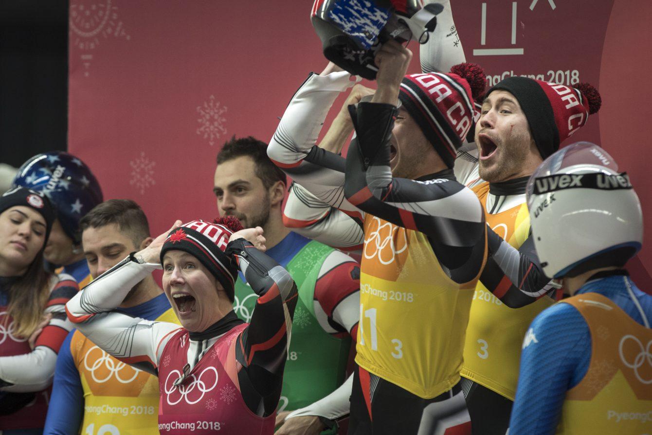 Team Canada luge PyeongChang 2018