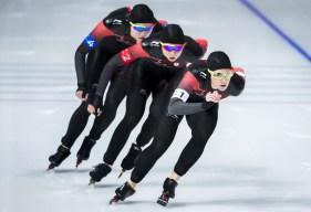 Team Canada Ivanie Blondin Keri Morrison Isabelle Weidemann PyeongChang 2018