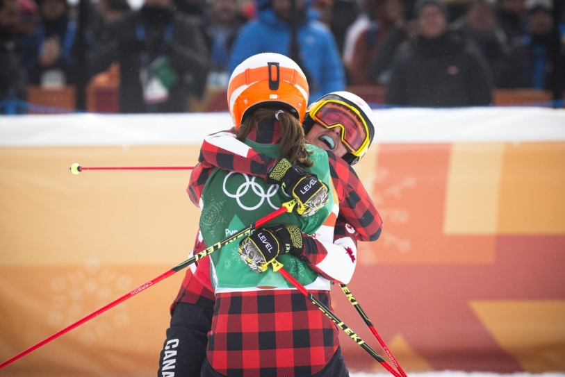 Team Canada's Kelsey Serwa wins Gold in the Ladies Ski Cross at Phoenix Snow Park during the PyeongChang 2018 Olympic Winter Games in Bokwang, South Korea, Friday, February 23, 2018. COC – David Jackson