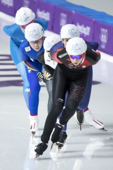 Team Canada's Keri Morrison in the semifinals heat for the Ladies Mass Start Speed Skating Event at the Gangneung Oval during the PyeongChang 2018 Olympic Winter Games in Pyeongchang, South Korea,Saturday, February 24, 2018. COC – David Jackson