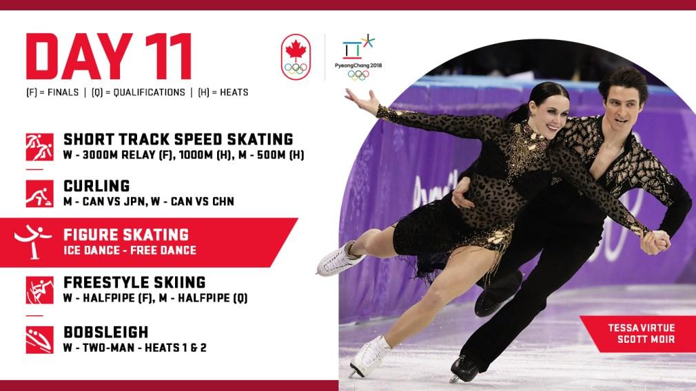 PyeongChang 2018: Day 11 Schedule