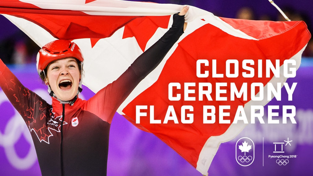 Closing Ceremony flag bearer honours bestowed on Boutin