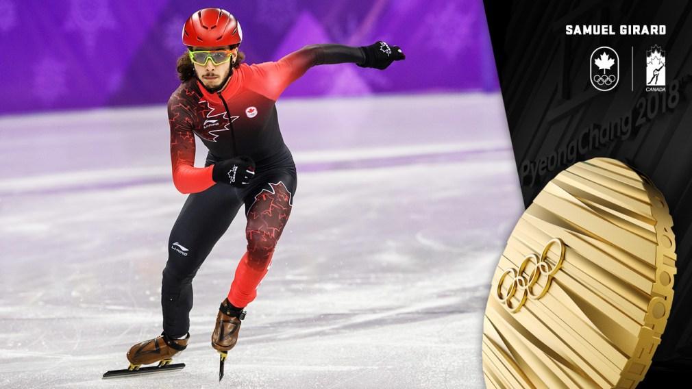 Girard wins gold in men's 1000m short track speed skating