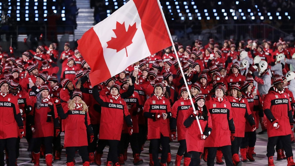 Who will carry Canada's flag into the PyeongChang 2018 Closing Ceremony?