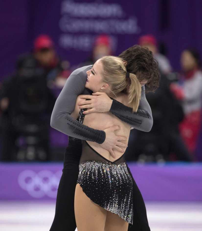 Canada's Julianne Seguin and Charlie Bilodeau compete in the pairs skating short program at the PyeongChang 2018 Olympic Winter Games in Korea, Wednesday, February 14, 2018. THE CANADIAN PRESS/HO - COC Ð Jason Ransom