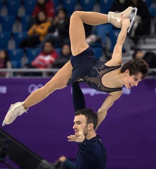 Canada's Meagan Duhamel and Eric Radford compete in the pairs skating short program at the PyeongChang 2018 Olympic Winter Games in Korea, Wednesday, February 14, 2018. THE CANADIAN PRESS/HO - COC Ð Jason Ransom
