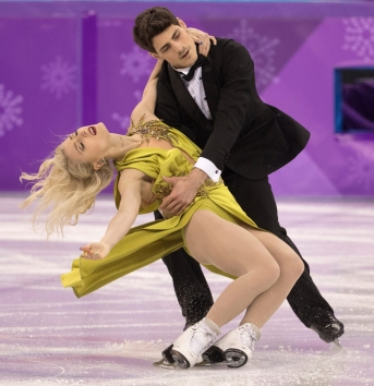 Canada's Paul Poirer and Piper Gilles perform their ice dance free dance program at the PyeongChang 2018 Olympic Winter Games in Korea, Tuesday, February 20, 2018. THE CANADIAN PRESS/HO - COC – Jason Ransom