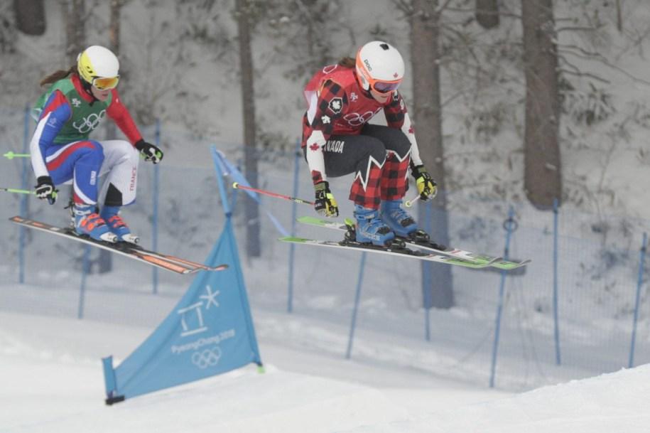 Brittany Phelan competes in women's ski cross at PyeongChang 2018