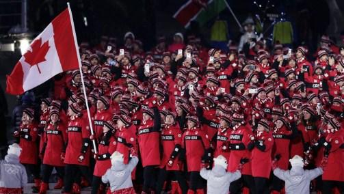 PyeongChang 2018 Team Canada Opening Ceremony