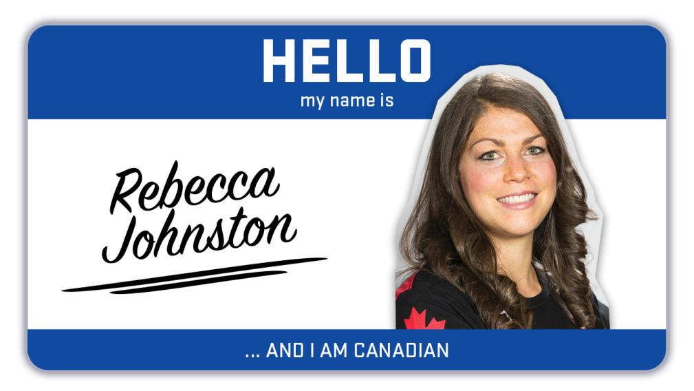 Hi, my name is Rebecca Johnston and I play hockey