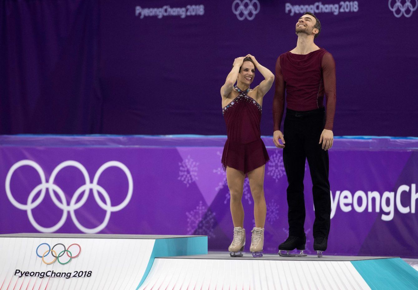 Team Canada Duhamel Radford PyeongChang 2018 pairs free podium