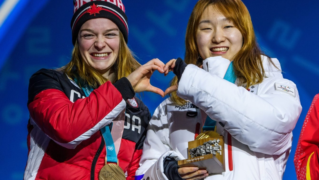 Team Canada Kim Boutin PyeongChang 2018 1500m medal ceremony