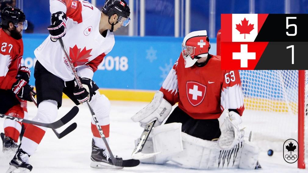 Canada defeats Switzerland in men's hockey opener