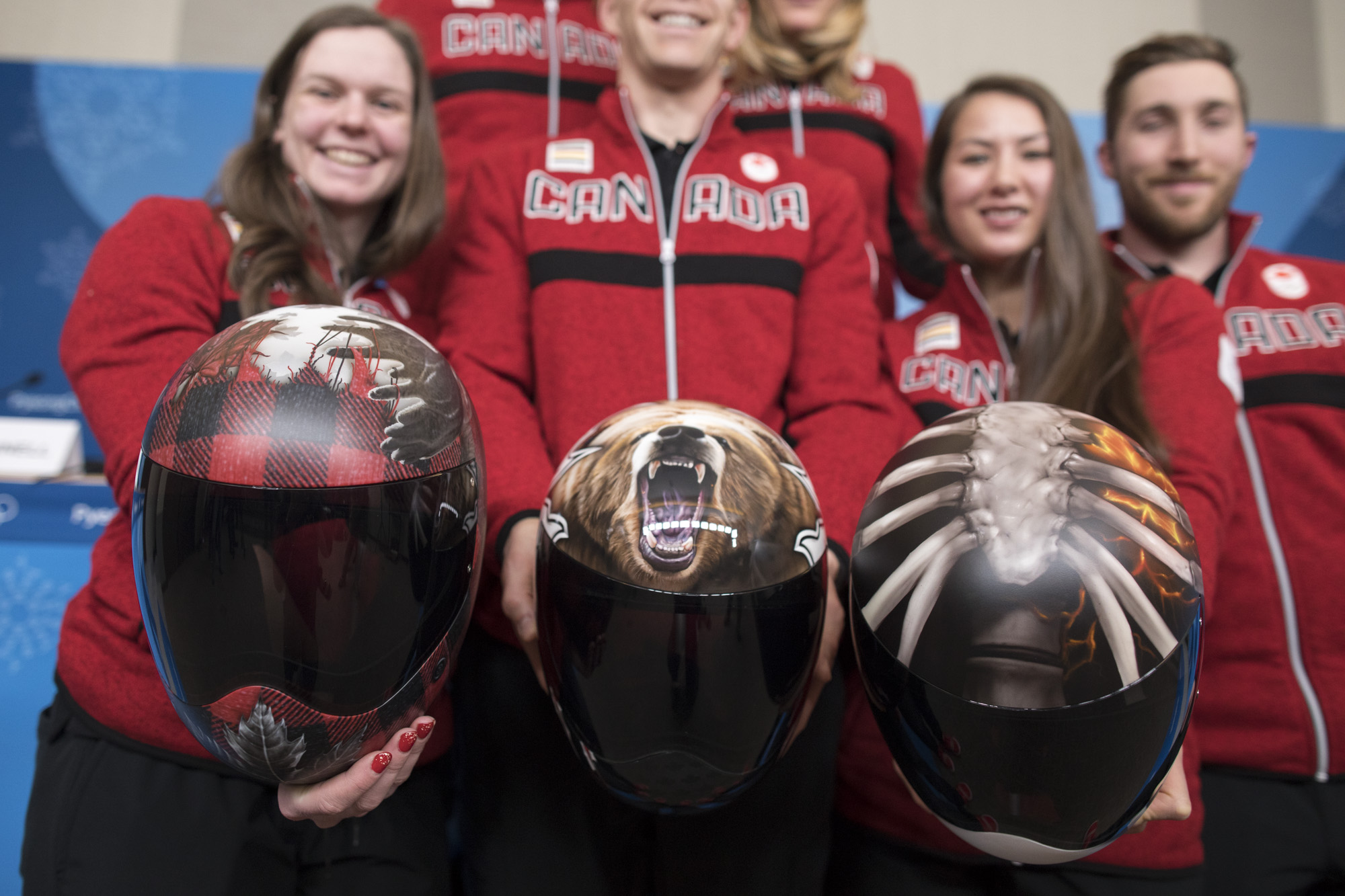 Team Canada PyeongChang 2018 Skeleton Helmets