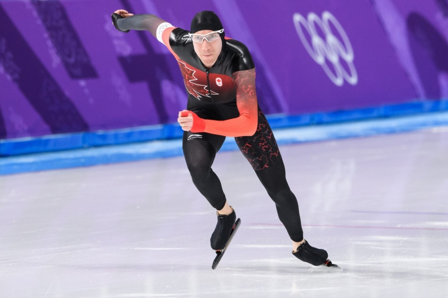 Ted-Jan Bloeman competes in the Men's 5000m Speed Skating event at PyeongChang 2018.