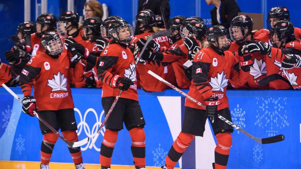 Women's hockey goal