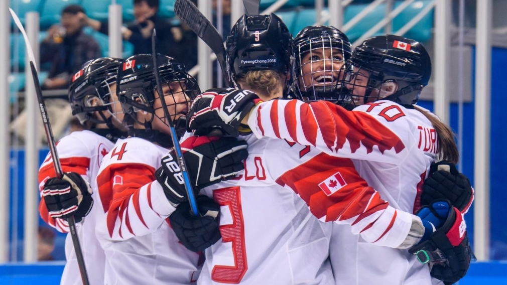 Team Canada womens hockey PyeongChang 2018