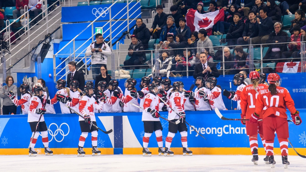Team Canada Olympic Athletes from Russia Women's Ice Hockey PyeongChang 2018