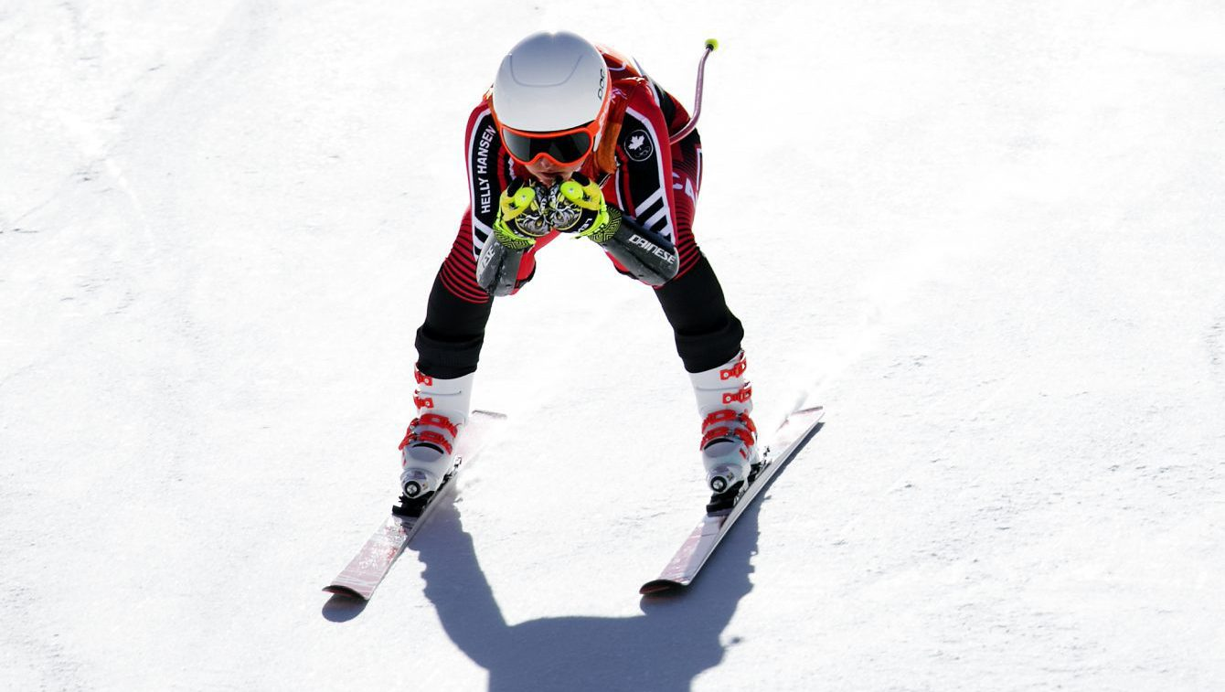 Valerie Grenier competing at the PyeongChang 2018 Olympic games