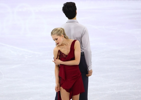 Kaitlyn Weaver and Andrew Poje of Canada compete in the Figure Skating Ice Dance Free Program at the Gangneung Ice Arena during the PyeongChang 2018 Olympic Winter Games in PyeongChang, South Korea on February 20, 2018. (Photo by Vaughn Ridley/COC)
