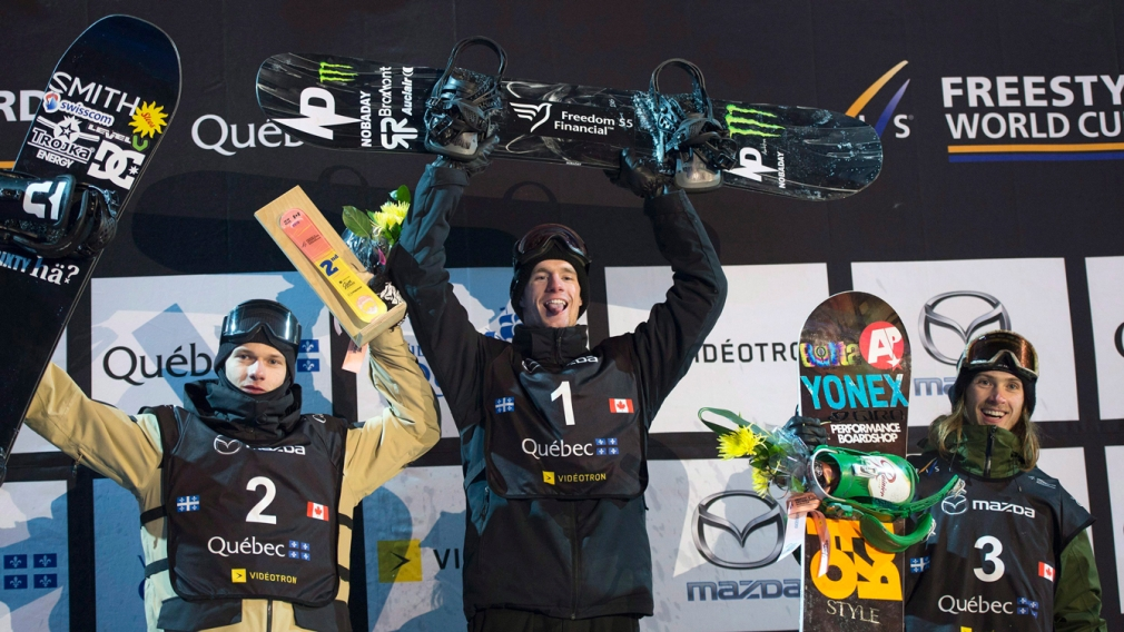 Parrot wins World Cup big air in Quebec with three Canadians on the podium