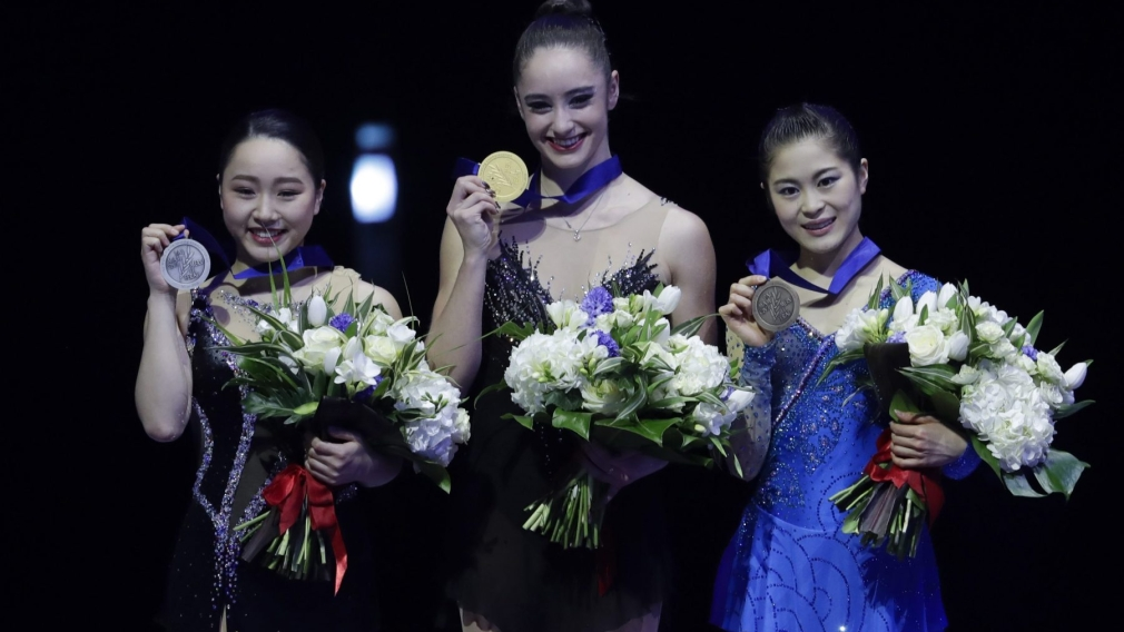 Osmond wins Canada's first women's world figure skating title in 45 years