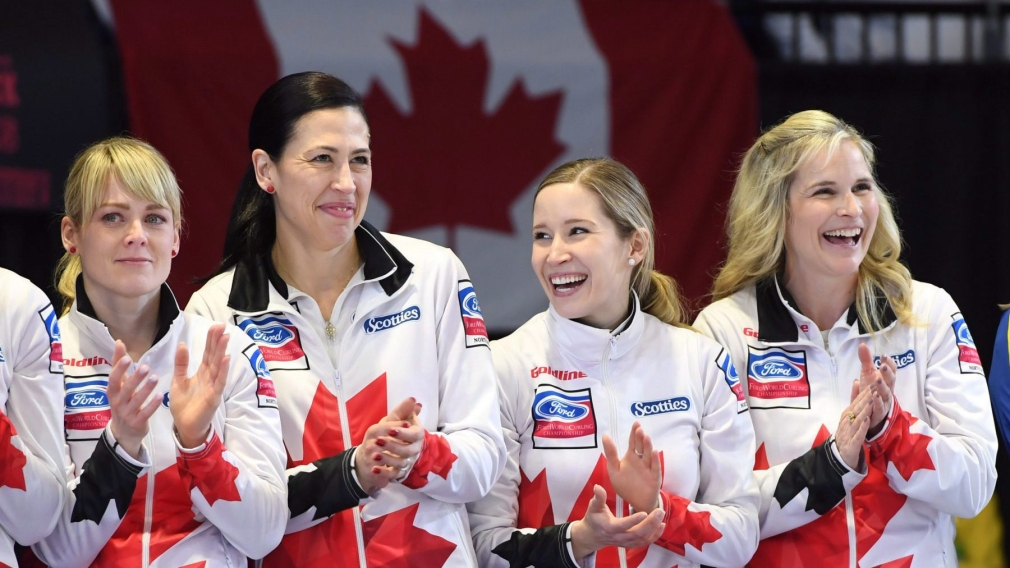 Jones skips undefeated Team Canada to gold at women's curling worlds