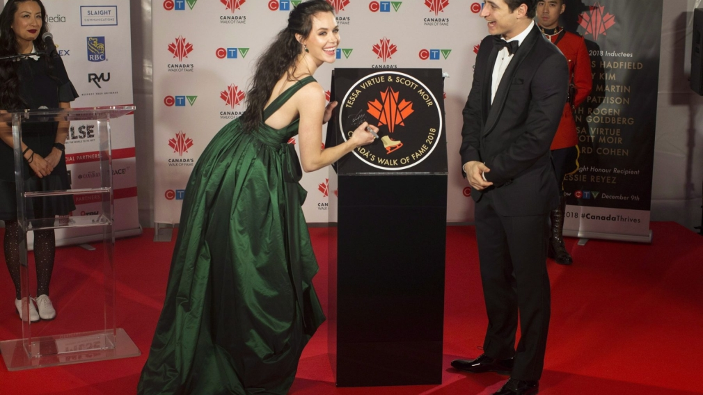 Virtue and Moir receive a star on Canada's Walk of Fame