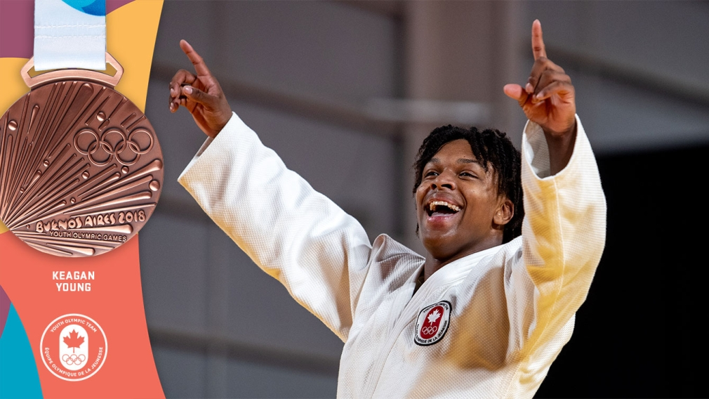 Young clinches judo bronze, Team Canada's first medal at Buenos Aires 2018