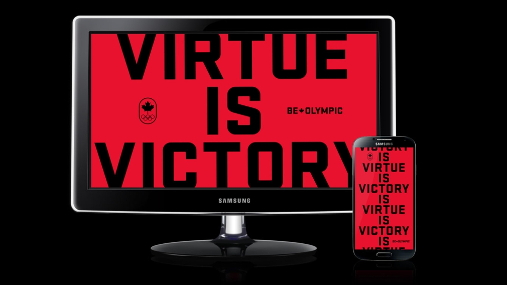 Virtue is Victory – Be Olympic Wallpaper
