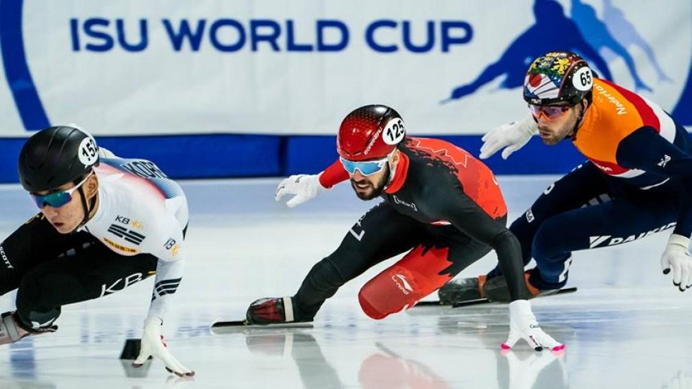 Steven Dubois races to short track bronze in Salt Lake City