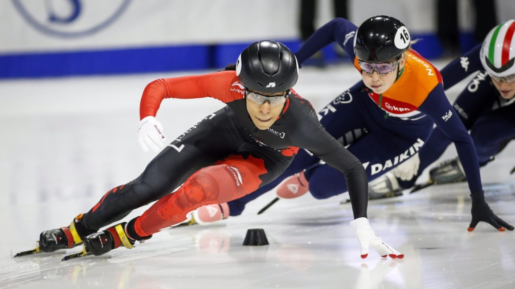 Team Canada wins two bronze medals on the final day of the short track Calgary World Cup