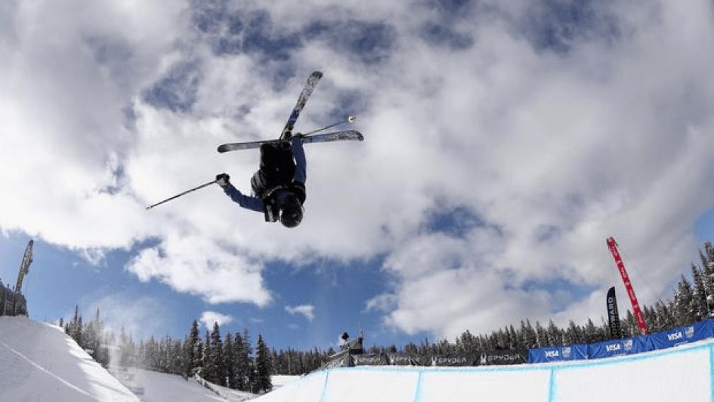 Double podium in women's ski superpipe at Dew Tour