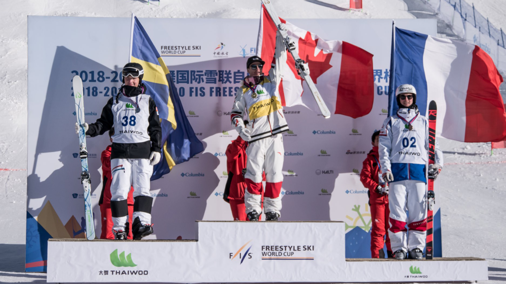 Kingsbury lands at top of dual moguls podium for 52nd World Cup win