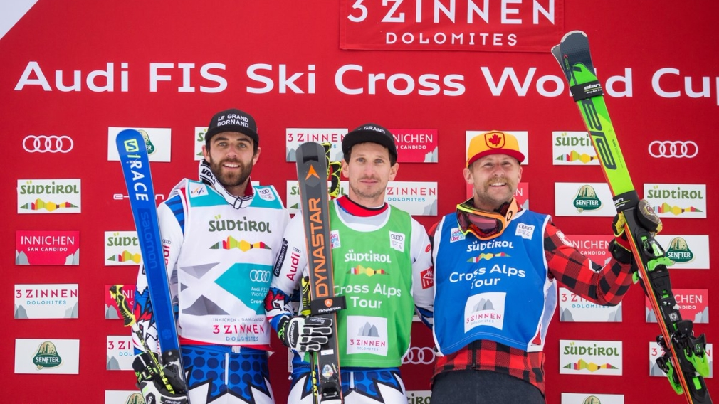Brady Leman wins ski cross bronze at Innichen World Cup